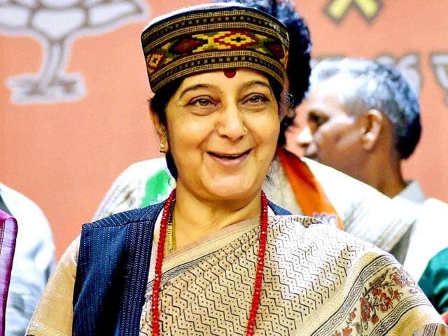 Sushma Swaraj,Singapore,K Shanmugam