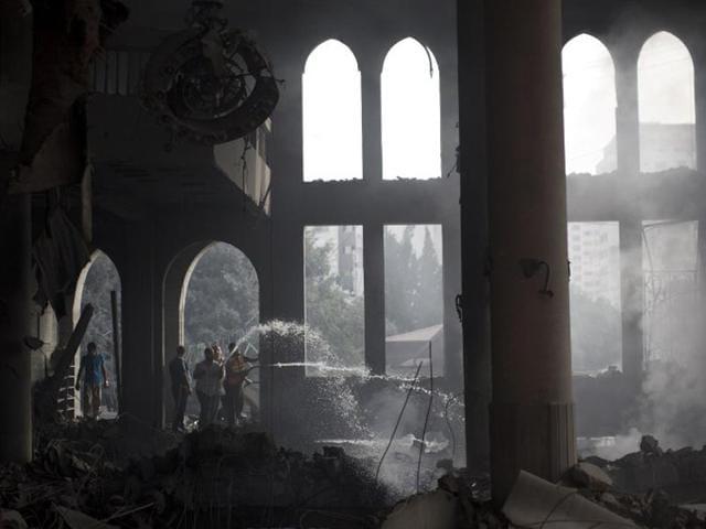 Israeli missile,gaza,Omari mosque