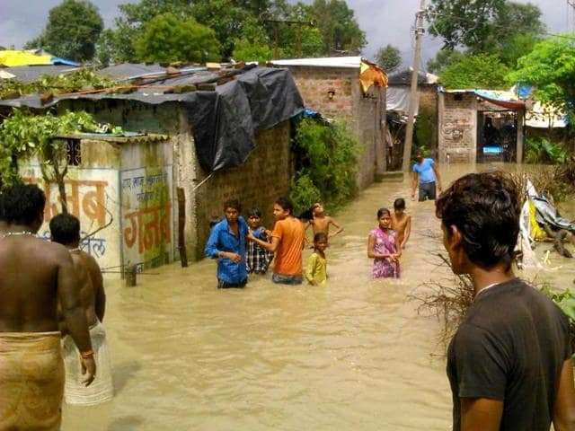 A-flooded-village-after-heavy-showers-in-Nasrullahganj-of-Sehore-on-Tuesday-HT-photo