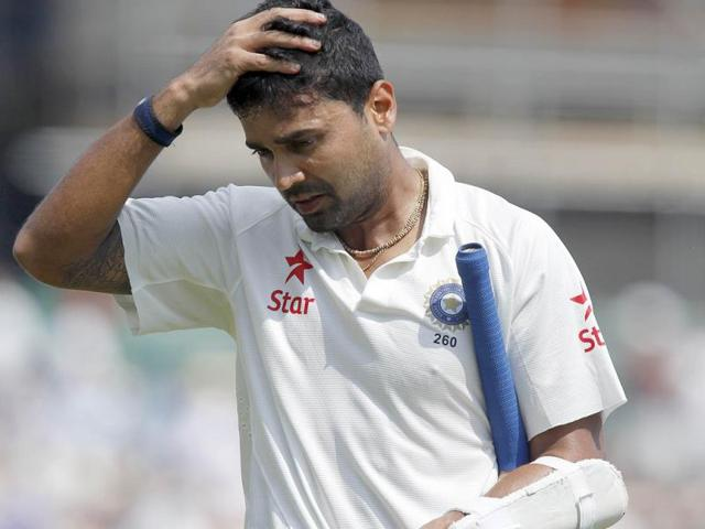 Murali-Vijay-walks-back-to-the-pavilion-after-getting-runout-for-12-during-the-fourth-day-of-the-third-Test-against-England-at-The-Ageas-Bowl-cricket-ground-in-Southampton-AFP-Photo