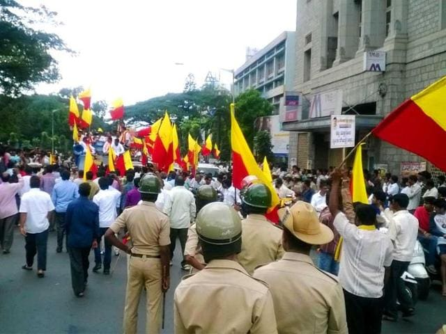 Kannada-organisations-protest-against-the-growing-instances-of-rape-in-Bangalore