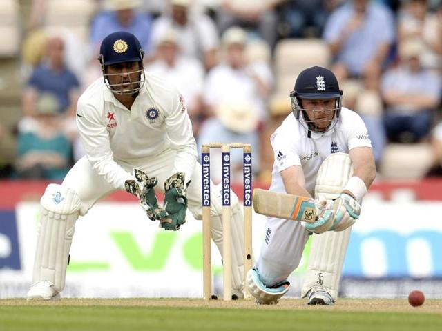 England-s-Ian-Bell-sweeps-the-ball-past-the-boundary-Reuters-Photo