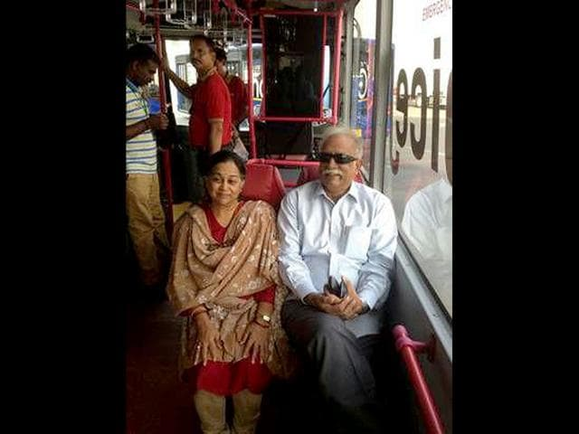 Aviation-minister-Ashok-Gajapathi-Raju-Pusapati-travelling-in-an-airline-ferry-bus-HT-Photo
