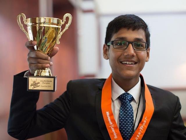Delhi boy Arjit Kansal wins Microsoft PowerPoint 2010 world champion award