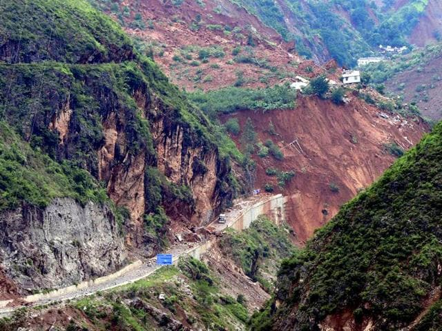 This-photoshows-an-overhead-view-of-a-road-buried-by-landslide-after-a-6-1-magnitude-earthquake-hit-Ludian-county-in-Zhaotong-in-southwest-China-s-Yunnan-province-AFP-Photo