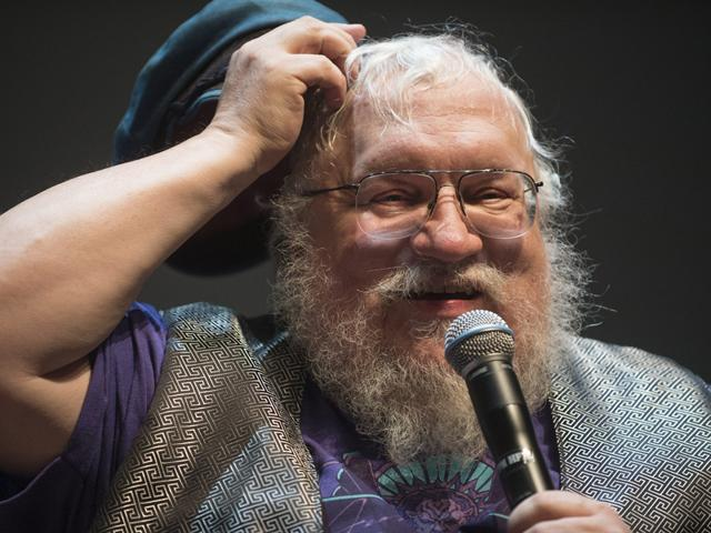 George-RR-Martin-the-creator-of-the-Game-of-Thrones-universe-breaks-into-a-jig-on-his-cue
