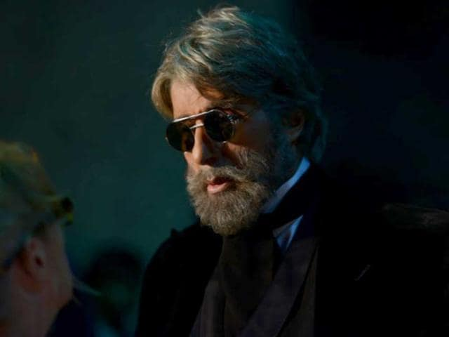 Amitabh Bachchan in a still from Shamitabh.