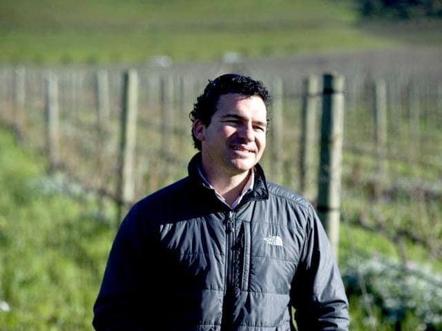 Carl-van-der-Merwe-winemaker-and-general-manager-at-at-De-Morgenzon-wine-estate-stands-at-DeMorgenzon-wine-estate-in-Stellembosch-some-50-kms-north-of-Cape-Town-AFP-Photo