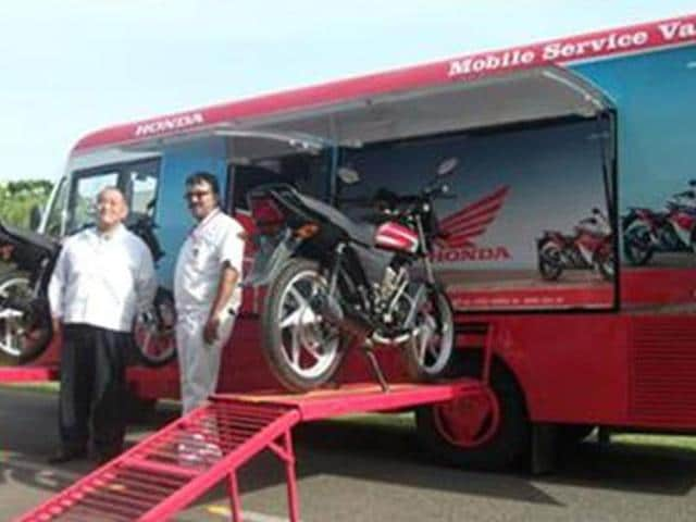 honda,Honda reaches out to rural customers,Mobile Service Van