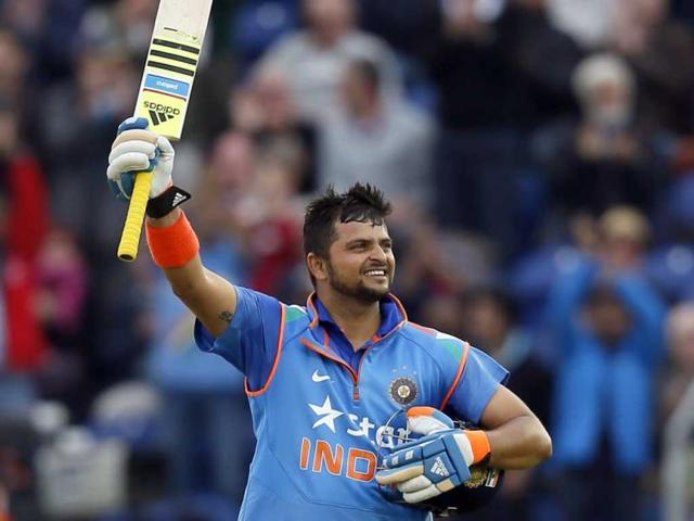 India-s-Suresh-Raina-hits-a-massive-six-watched-by-Zimbabwe-s-Brendan-Taylor-during-their-Cricket-World-Cup-match-at-Eden-Park-in-Auckland-REUTERS