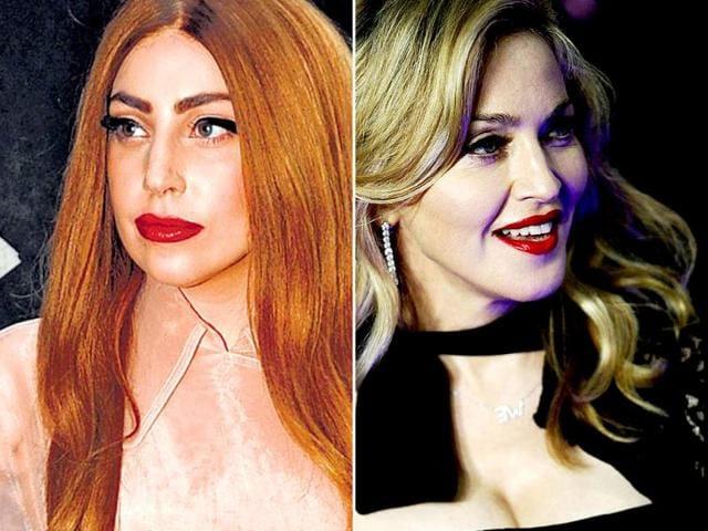 Madonna,Lady Gaga,fight