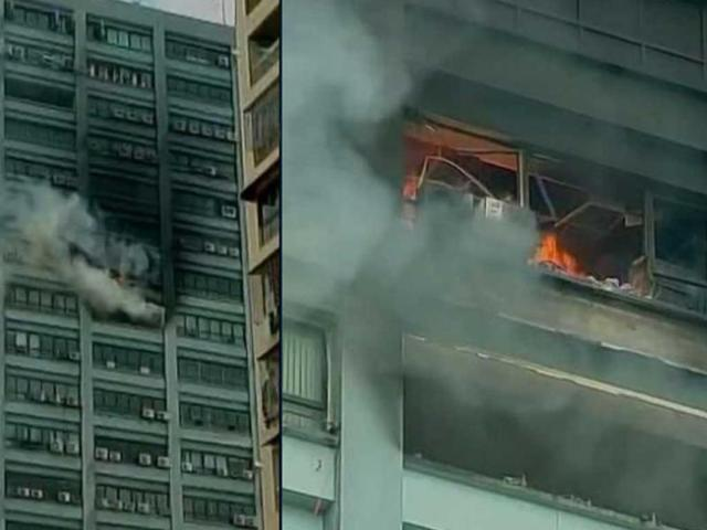 Kolkata high-rise office building catches fire