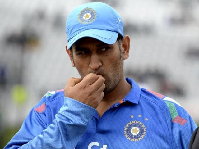 Indian-cricket-captain-Mahendra-Singh-Dhoni-speaks-with-the-press-after-a-practice-session-at-the-Sher-e-Bangla-National-Stadium-in-Dhaka-on-June-17-2015-ahead-of-the-first-ODI-against-Bangladesh-India-lost-by-79-runs-AFP-Photo