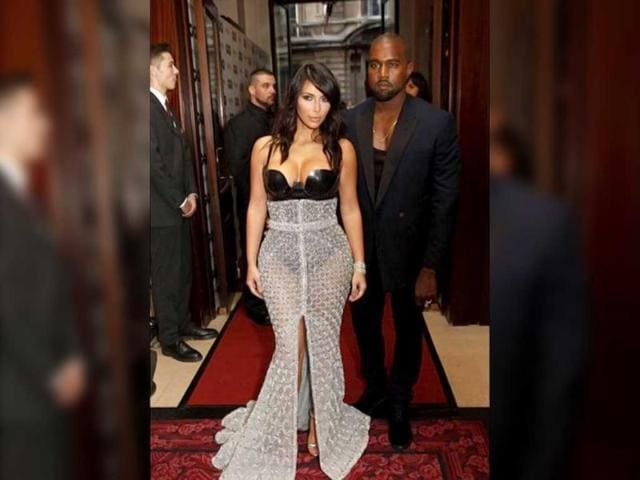 Kim Kardashian,Kanye West,paris fashion week