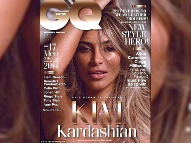 Kim Kardashian poses nude for magazine, again