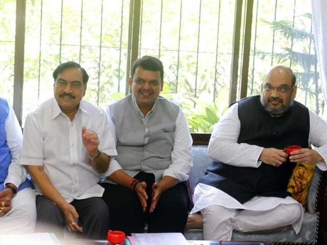 BJP chief Amit Shah with the state