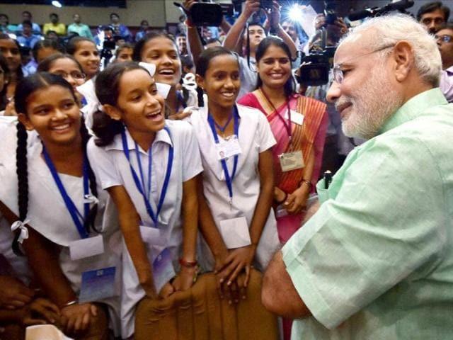 Prime Minister Narendra Modi's Teachers' Day,Balak Madhya Vidyalaya,Hansraj Morarji Public School