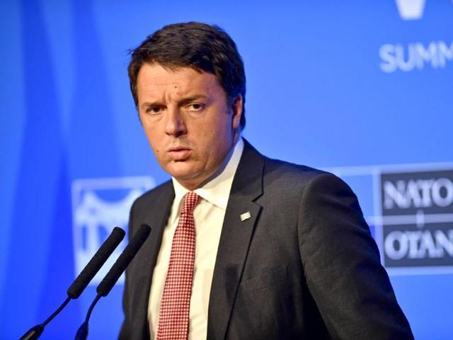 PM Matteo Renzi,Italy. Migrants