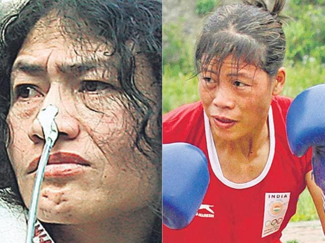 Mary Kom,Irom Sharmila,Manipuri women