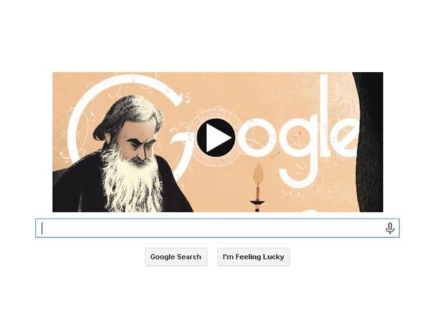 Google Doodle pays tribute to Leo Tolstoy on 186th birthday