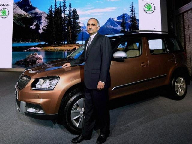 Chairman-and-Managing-Director-Skoda-Auto-India-Sudhir-Rao-poses-for-media-during-the-unveiling-of-their-new-car-Yeti-in-Mumbai-on-Wednesday-Photo-PTI