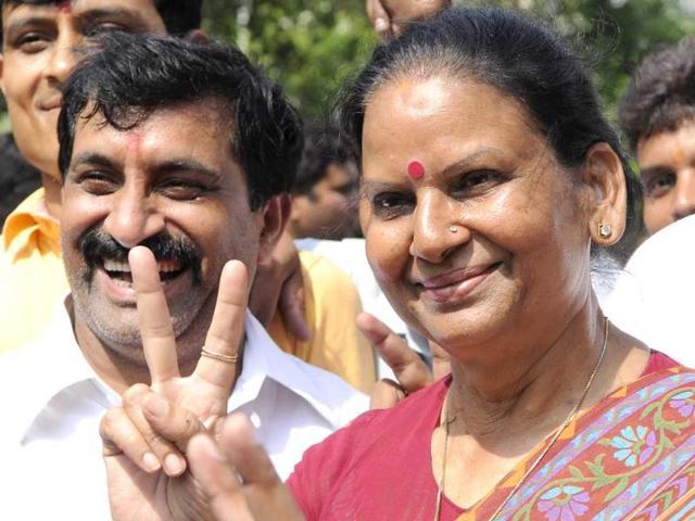 Bharatiya-Janata-Party-candidate-Vimla-Batham-won-Noida-seat-in-by-poll-elections-by-a-margin-of-58-952-votes-defeating-Samajwadi-Party-candidate-Kajal-Sharma-who-got-41-481-votes-in-Noida-Burhaan-Kinu-HT-Photo