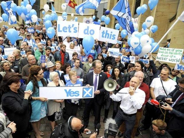 Scotland independence referendum,separatist movements,Catalan separatist parties