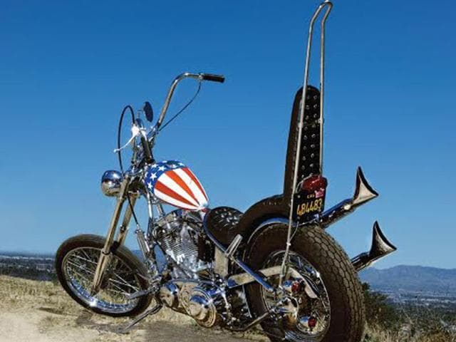 This-handout-photo-released-September-17-2014-courtesy-of-the-Profiles-in-History-auction-house-shows-the-iconic-Harley-Davidson-motorbike-ridden-by-Peter-Fonda-in-the-1969-classic-Easy-Rider-Photo-AFP