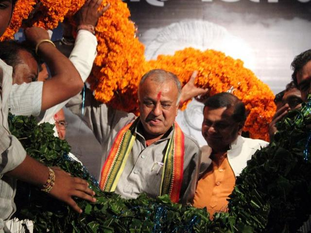 MP-BJP-chief-Nandkumar-Singh-Chauhan-was-in-Jabalpur-on-Monday-for-his-second-poll-related-visit-Shankar-Mourya-HT-file-photo