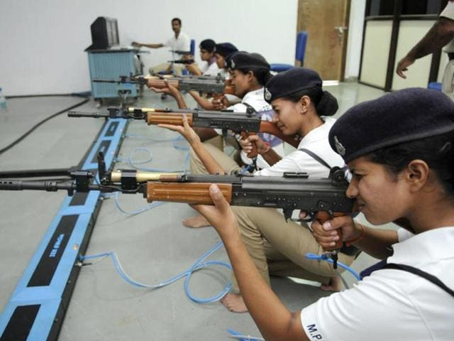 Madhya Pradesh,police training college,weapons