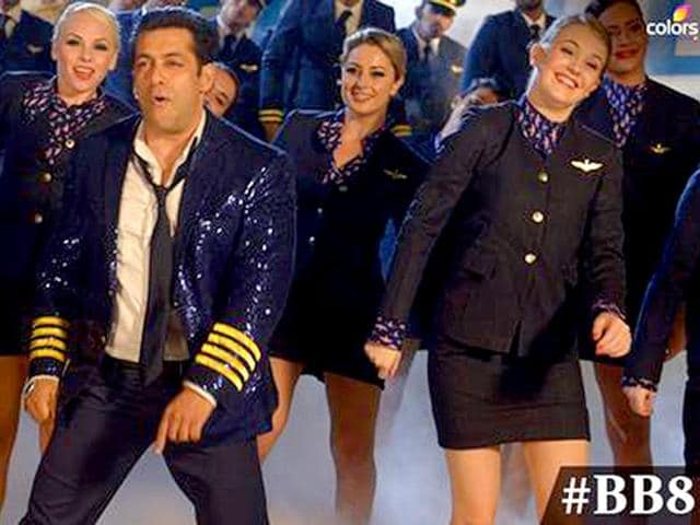 Salman Khan performs at the premiere episode of Bigg Boss 8. (Photo: Colors.in)