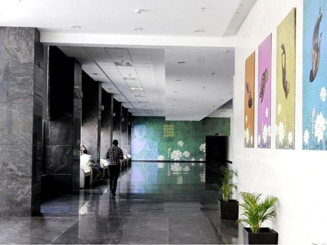 The-lobby-area-of-Brilliant-Convention-Centre-Arun-Mondhe-HT-photo