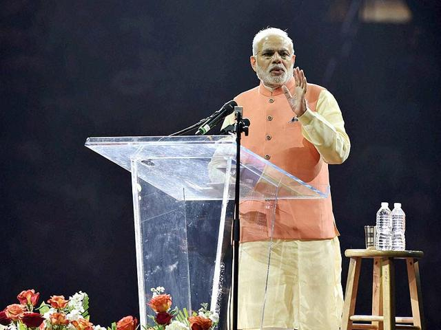 Prime-Minister-Narendra-Modi-addresses-the-audience-during-a-reception-organised-in-his-honour-by-the-Indian-American-Community-Foundation-at-Madison-Square-Garden-in-New-York-on-Sunday-PTI-file-Photo