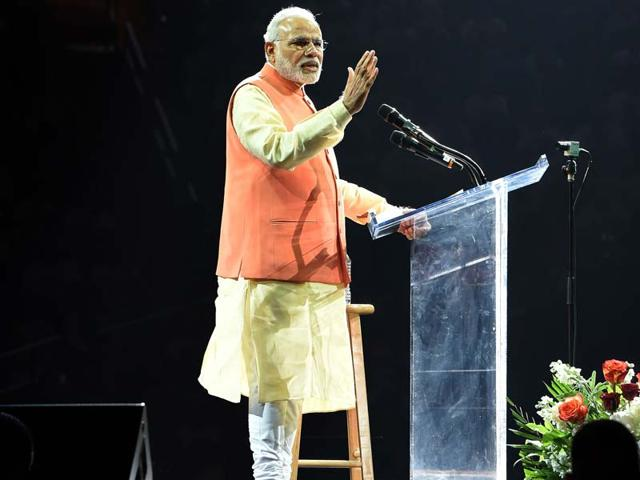 Prime-Minister-Narendra-Modi-speaks-to-supporters-during-a-community-reception-at-Madison-Square-Garden-in-New-York-AFP-Photo