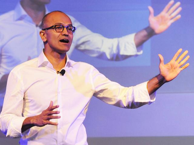 Microsoft,Satya Nadella,Windows 10