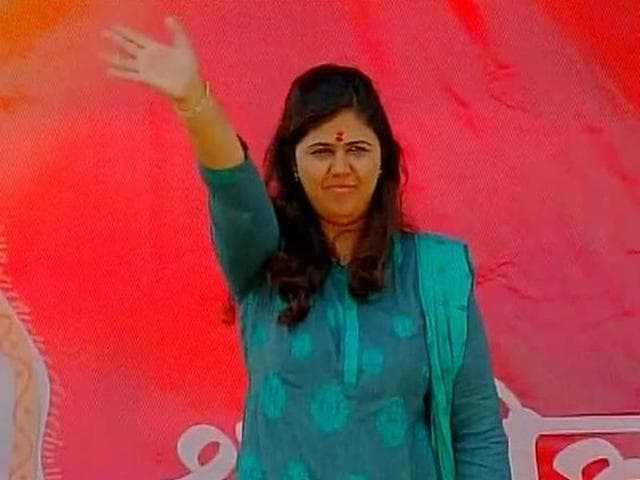 BJP-leader-Pankaja-Munde-at-a-party-rally-in-Bhagwangad-ANI-photo