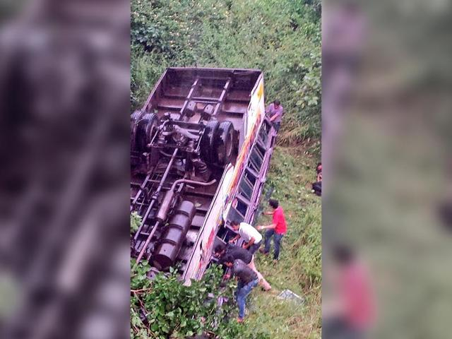 16 die as bus falls into gorge in Andhra
