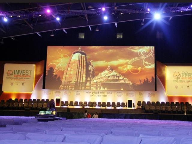 The-main-hall-at-Brilliant-Convention-Centre-in-Indore-where-the-inaugural-event-of-Global-Investors-Summit-was-organised-Amit-K-Jaiswal-HT-photo