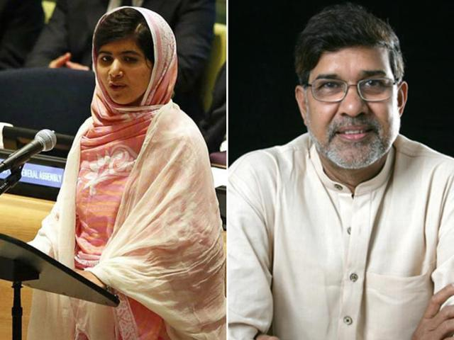 Pakistan-s-Malala-Yousufzai-and-India-s-Kailash-Satyarthi-who-s-a-child-rights-activist-share-the-2014-Nobel-Peace-prize