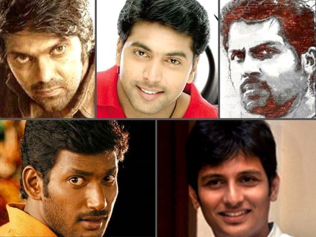 Popular-Tamil-film-actors-from-South-Vishal-Krishna-Reddy-Arya-Karthi-and--Jiiva