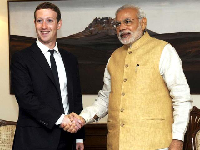 Facebook CEO Mark Zuckerberg,Prime Minister Narendra Modi,Facebook headquarter in San Francisco