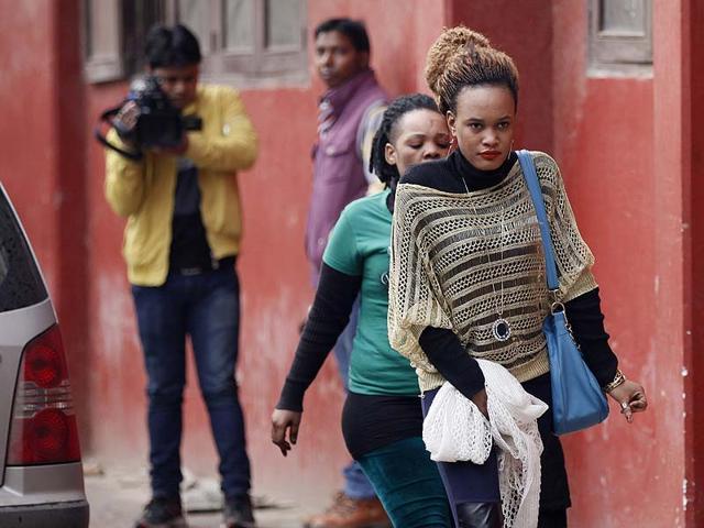 African-women-walk-through-Delhi-s-Khirki-extension-area-HT-Photo-Raj-K-Raj