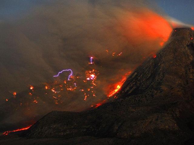 Mount Sinabung,Indonesia,volcano