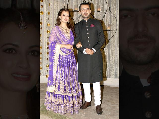 Dia Mirza got engaged to her long time beau and business partner Sahil Sangha in a private ceremony on in New Delhi