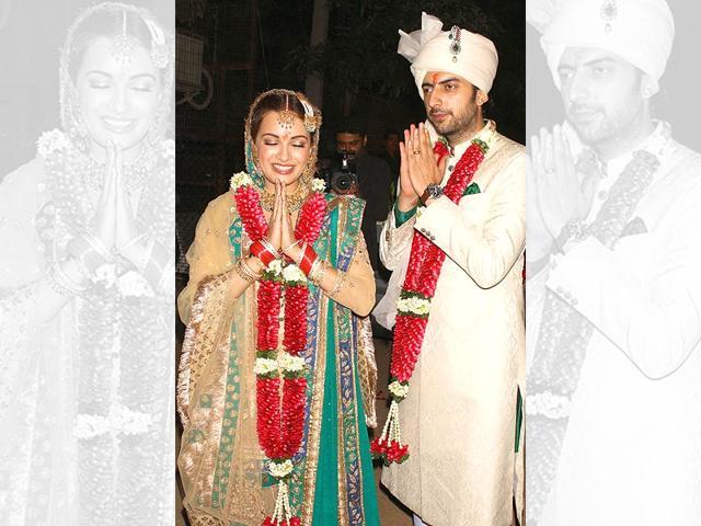 Dia Mirza,Sahil Sangha,Dia Mirza wedding