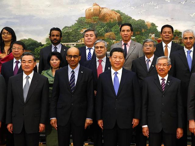 Chinese-President-Xi-Jinping-centre-takes-photos-with-guests-of-the-Asian-Infrastructure-Investment-Bank-at-the-Great-Hall-of-the-People-in-Beijing-on-Friday-AFP-Photo