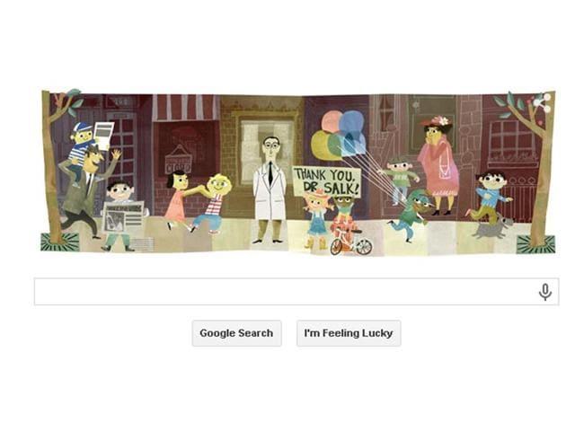 Google,doodle,Jonas Salk