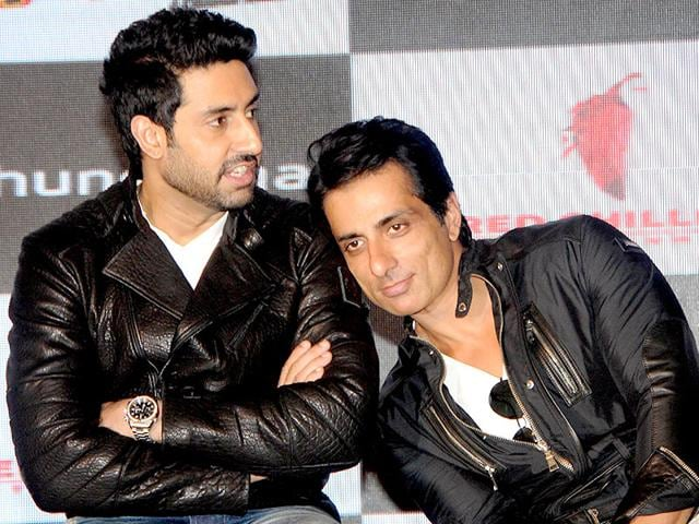 Sonu Sood seems to have found such peace resting on Abhishek Bachchan