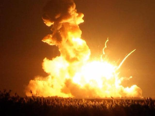 NASA rocket blast