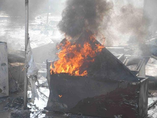Panchkula,fire,Sector-11 Rehri Market